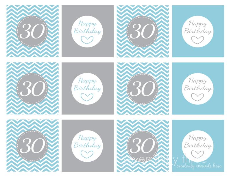 happy 30th birthday banner template ; 30th_Birthday_Cupcake_Toppers