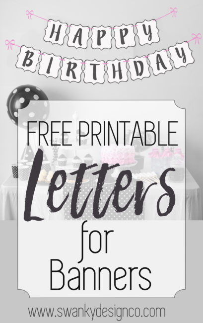 happy 30th birthday banner template ; Free-Printable-Letters-for-Banner-1-409x650