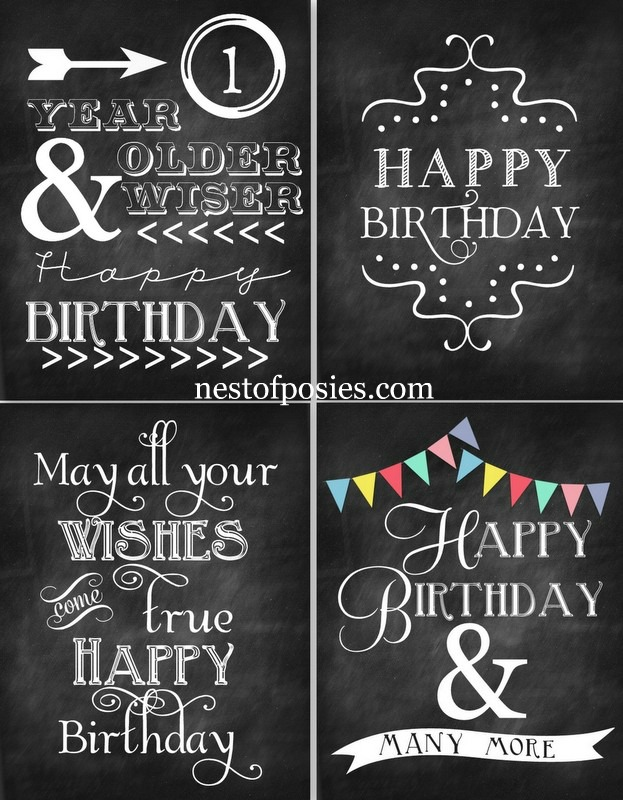 happy 30th birthday banner template ; Happy-Birthday-Chalkboard-Printables-via-Nest-of-Posies