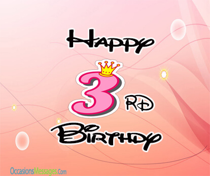 happy 3rd birthday message to my son ; 06