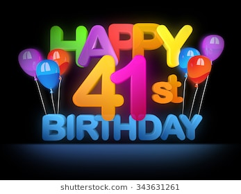 happy 41st birthday ; happy-41st-title-big-letters-260nw-343631261