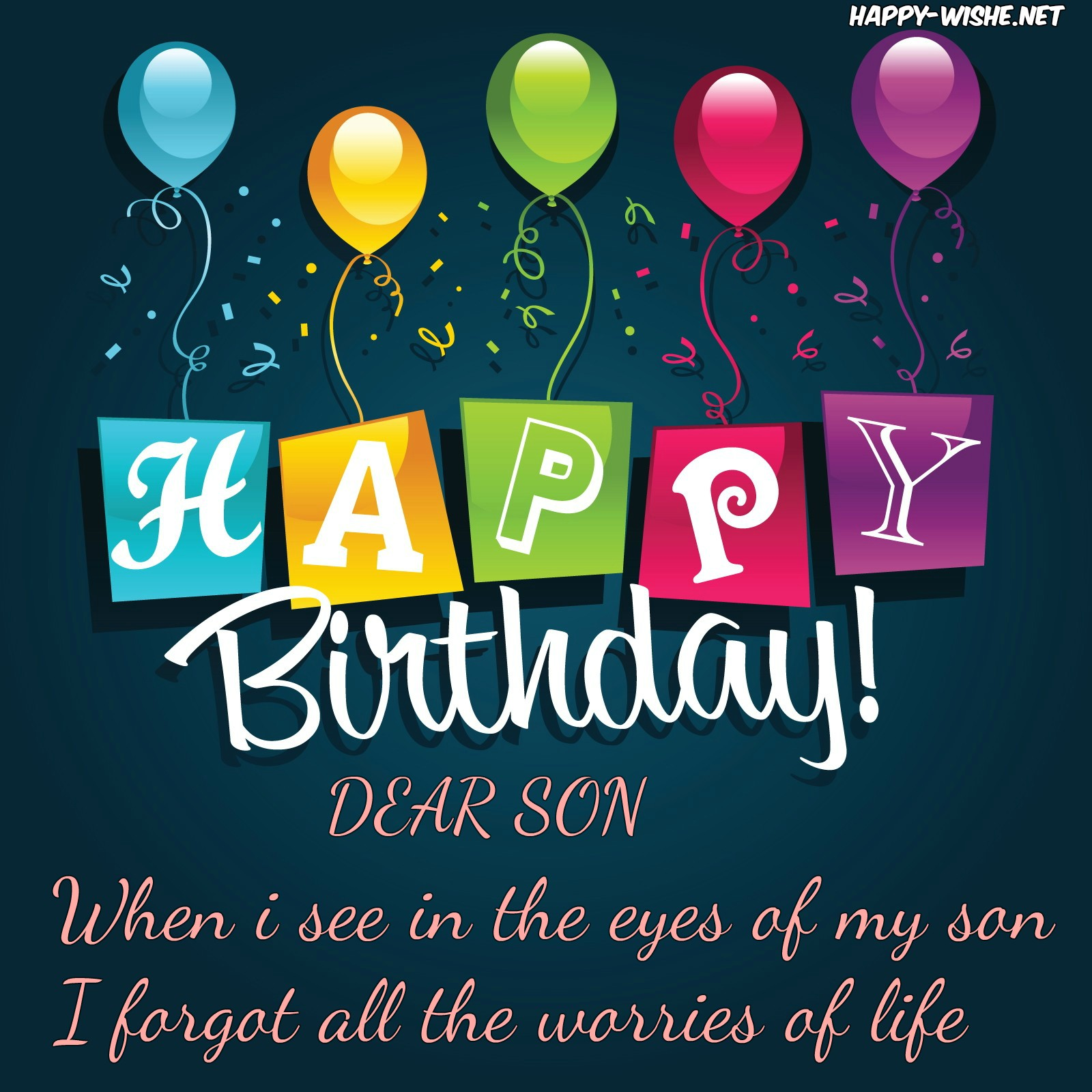 happy 5th birthday to my son message ; HappyBirthdayWishesforSon-Quotes4