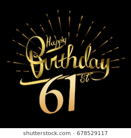 happy 61st birthday ; 61st-happy-birthday-logo-beautiful-260nw-678529117