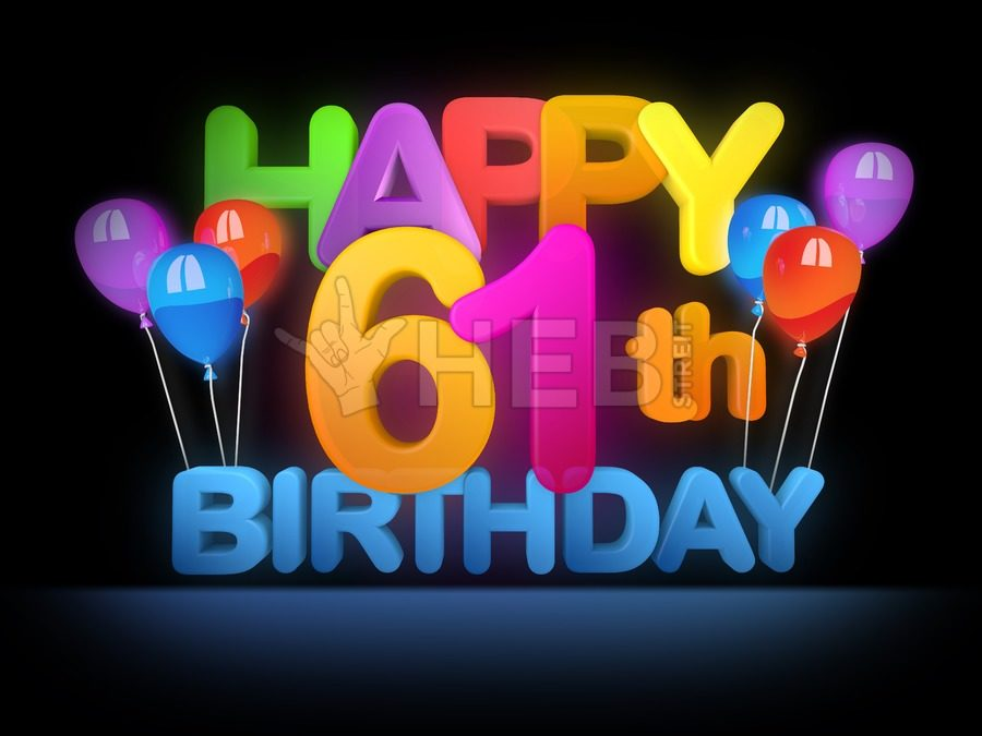 happy 61st birthday ; Happy-61st-Birthday-Title-dark-5125-900x675