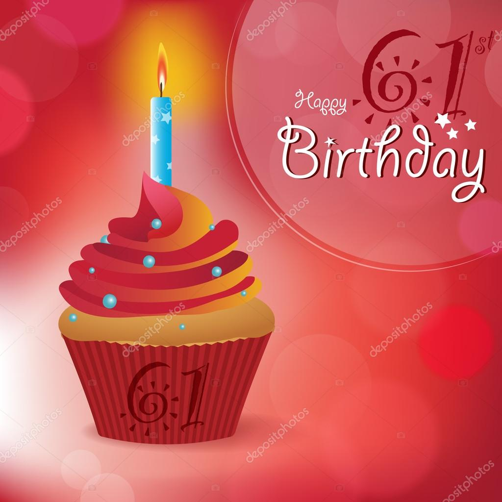 happy 61st birthday ; depositphotos_69245487-stock-illustration-happy-61st-birthday-greeting