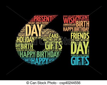 happy 61st birthday ; happy-61st-birthday-word-cloud-clipart-vector_csp40244556