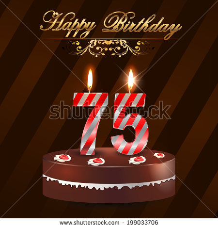 happy 75th birthday ; stock-vector--year-happy-birthday-card-with-cake-and-candles-th-birthday-vector-eps-199033706