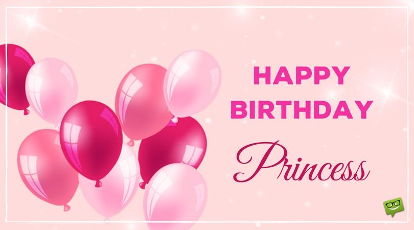 happy 7th birthday princess ; Birthday-wish-for-daughter-on-picture-with-pink-balloons