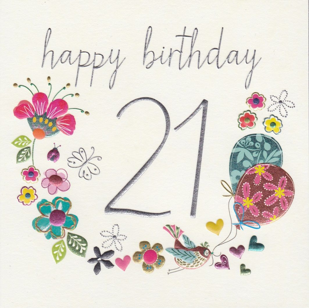 happy birthday 21 years old card ; lovely-21st-birthday-card