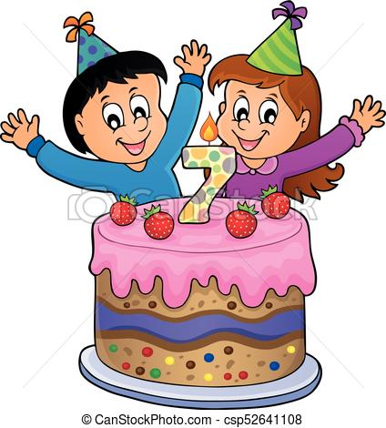 happy birthday 7 ; happy-birthday-image-for-7-years-old-vector-clipart_csp52641108