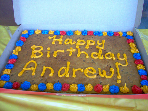 happy birthday andrew ; 225645435_77f366b377
