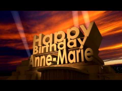 happy birthday anne marie ; hqdefault