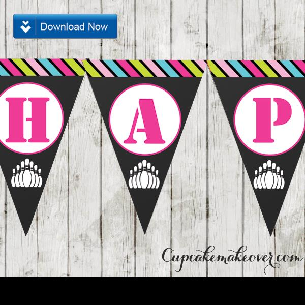 happy birthday banner for girl ; 180-Bowling-Happy-Birthday-Banner-Girls-Printable-d2