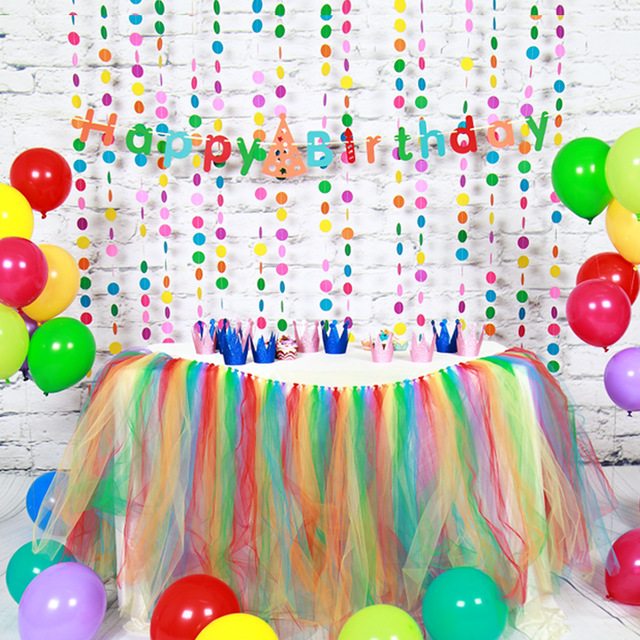 happy birthday banner for girl ; Paper-Birthday-Decoration-Sets-Happy-Birthday-Banner-Paper-Garland-Balloon-Table-Skirt-Decoration-Girls-Boys-Birthday