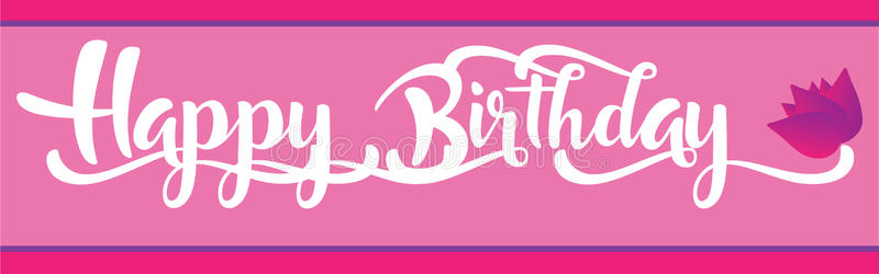 happy birthday banner for girl ; happy-birthday-banner-girl-pink-tulip-illustration-91604473