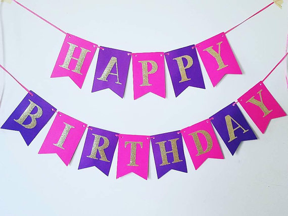 happy birthday banner for girl ; il_570xN-1