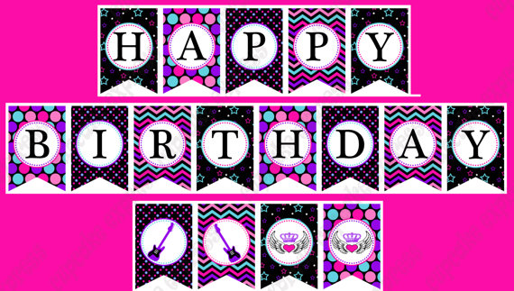 happy birthday banner for girl ; il_570xN-2