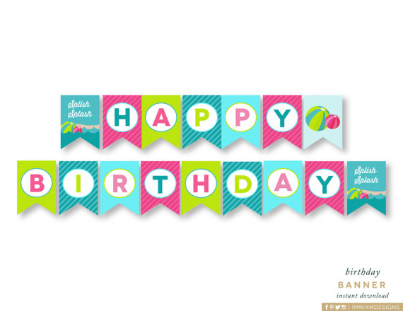 happy birthday banner for girl ; il_570xN-3