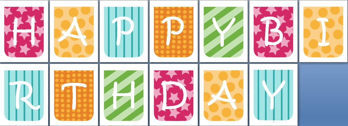 happy birthday banner individual letters ; Happy-Birthday-Banner-Letter-Templates-1