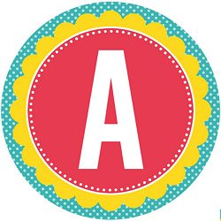 happy birthday banner individual letters ; free-printables-birthday-party-full-alphabet-circle-banner-red