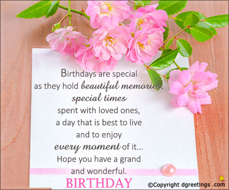 happy birthday birthday message ; birthdays-are-special-card