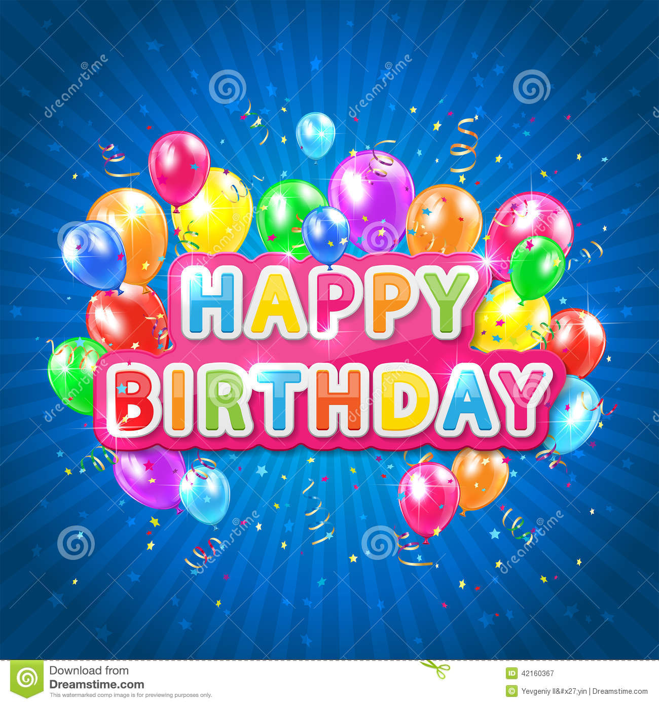 happy birthday blue images ; happy-birthday-blue-background-words-balloons-confetti-tinsel-striped-illustration-42160367
