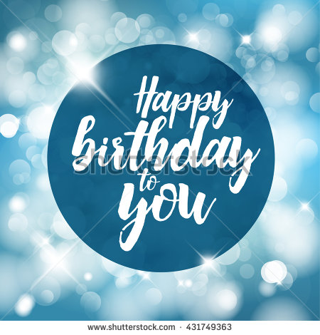 happy birthday blue images ; stock-vector-happy-birthday-vector-illustration-with-blue-lights-in-background-431749363