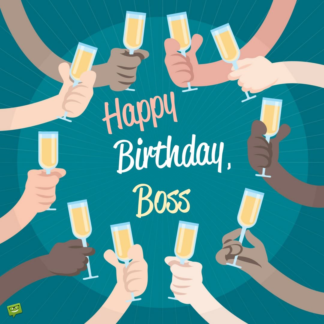 happy birthday boss lady ; Birthday-wish-for-boss-on-image-with-multiracial-group-making-a-toast