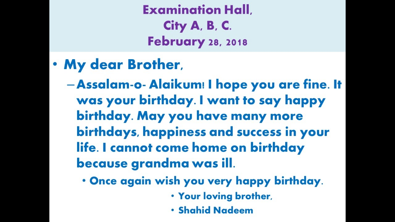 happy birthday brother letter ; maxresdefault