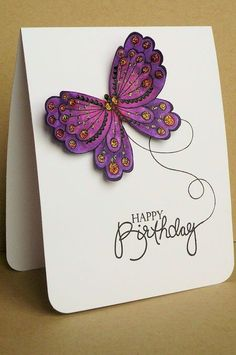 happy birthday butterfly card ; Clean-And-Si-Great-Butterfly-Birthday-Card