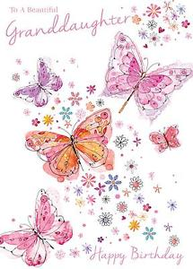 happy birthday butterfly card ; s-l300