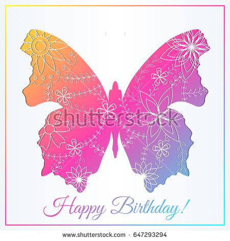 happy birthday butterfly card ; stock-vector-happy-birthday-card-with-butterfly-gradient-647293294