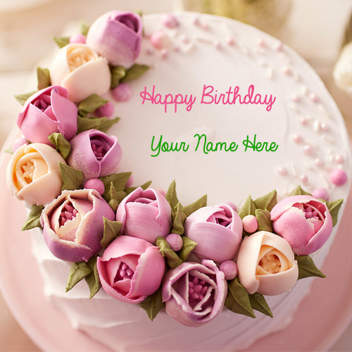 happy birthday cakes for her ; beautiful-ideas-happy-birthday-cake-and-flowers-flower-delicious