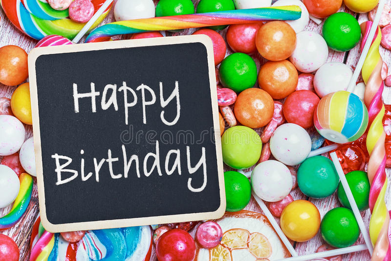 happy birthday candy ; blackboard-congratulations-to-happy-birthday-candy-sweets-43370783