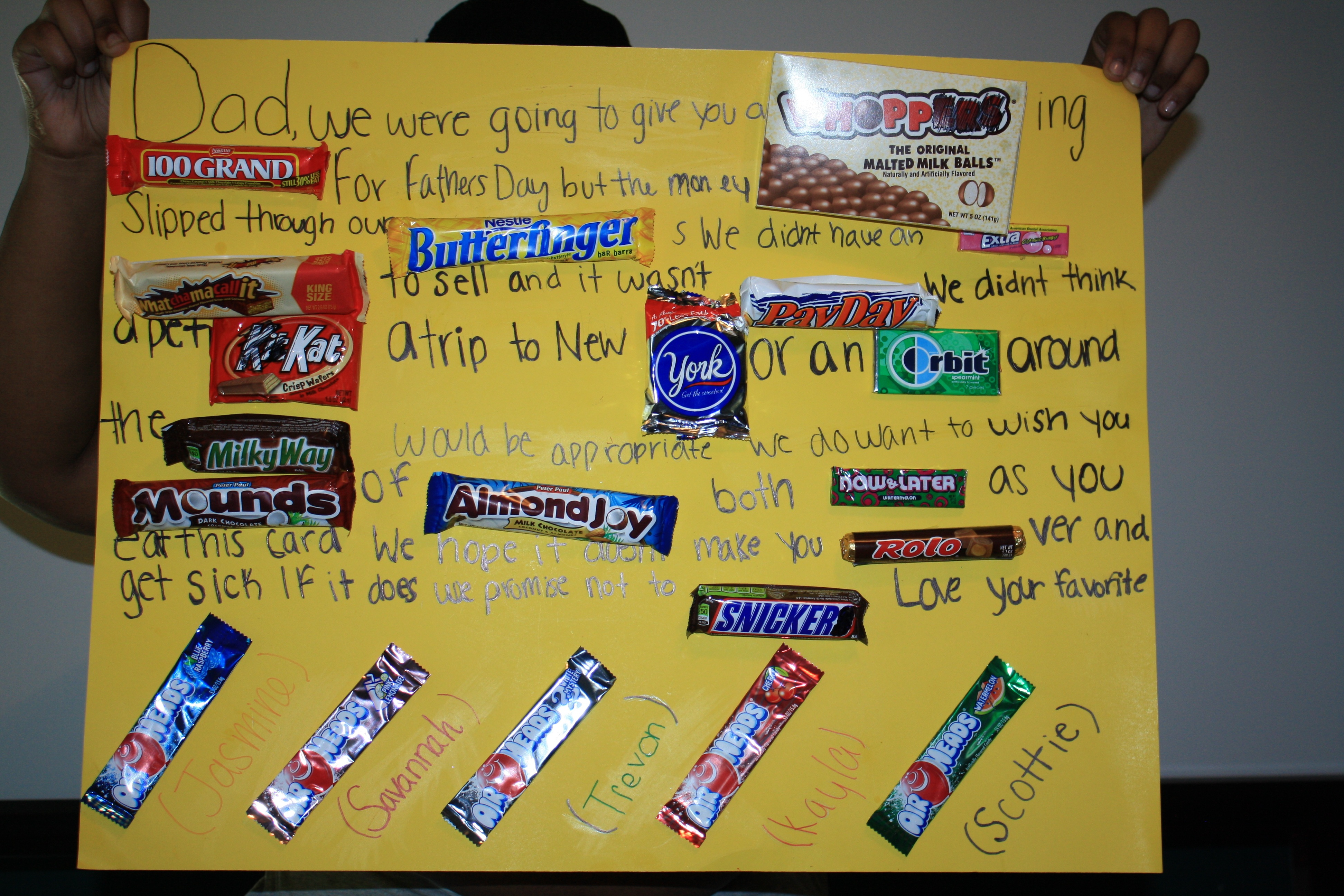 happy birthday candy bar card ; candy-poster