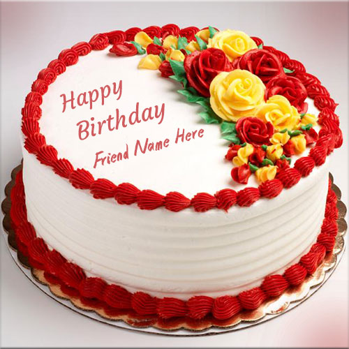 happy birthday card for best friend with name ; happy-birthday-cake-with-name-edit-happy-birthday-flower-cream-cake-pics-with-best-friend-name-awesome