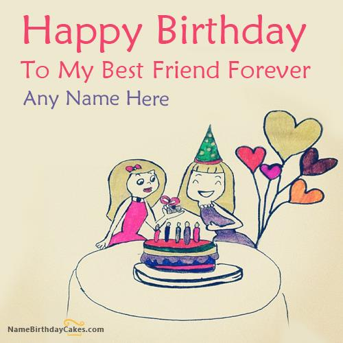 happy birthday card for best friend with name ; large