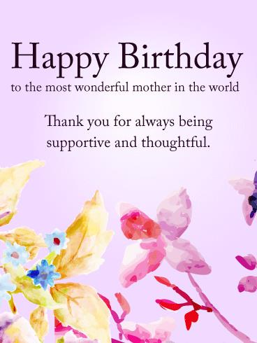 happy birthday card for mother ; mother-birthday-cards-to-the-most-wonderful-mother-birthday-flower-card-birthday-template