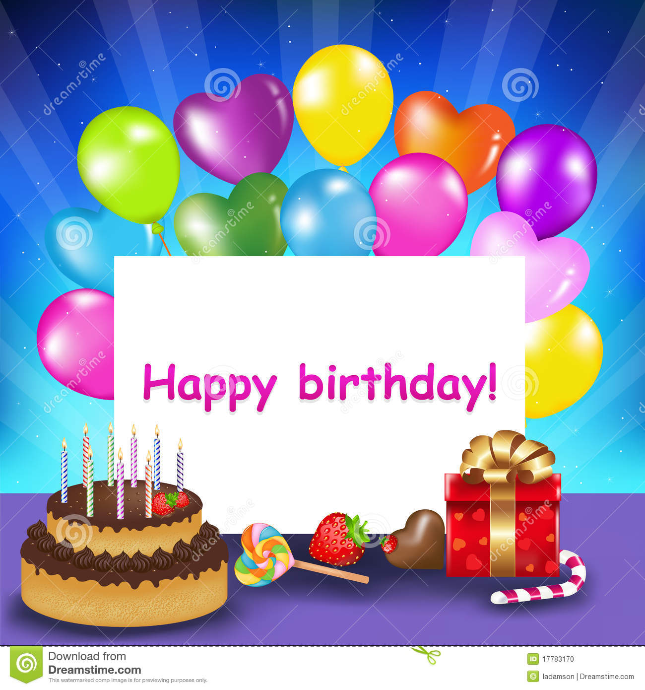 happy birthday card images for her ; happy-birthday-card-vector-17783170