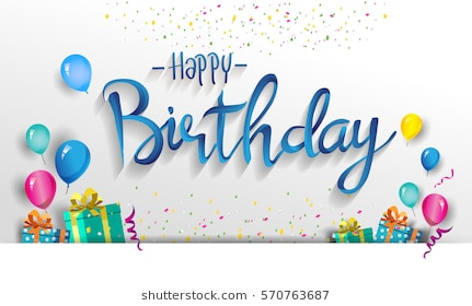 happy birthday card images for her ; happy-birthday-typography-vector-design-260nw-570763687