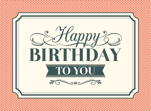 happy birthday card images for her ; vintage_happy_birthday_card_vector_543506