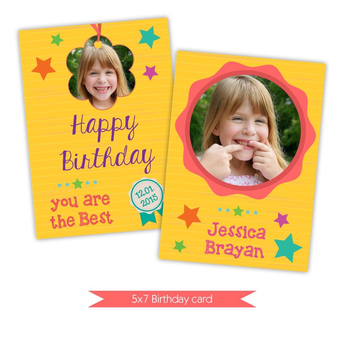 happy birthday card photoshop ; DI-0069Funny-sunny-card