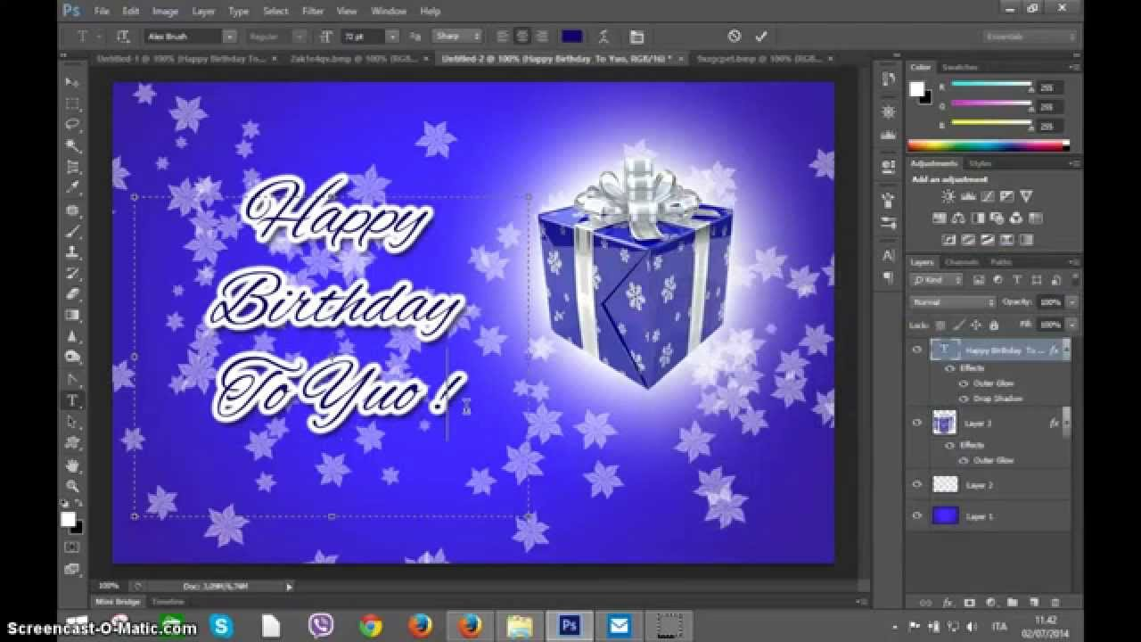 happy birthday card photoshop ; maxresdefault-1