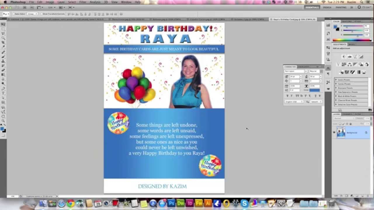 happy birthday card photoshop ; maxresdefault-3