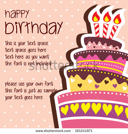 happy birthday card phrases ; stock-vector-happy-birthday-card-template-with-large-layered-cake-and-candle-vector-with-text-space-161241971