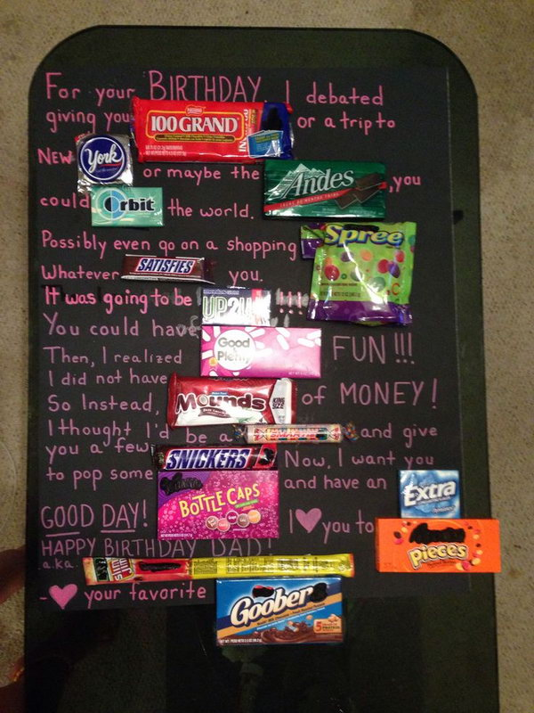 happy birthday card using candy bars ; 12-candy-bar-saying-ideas