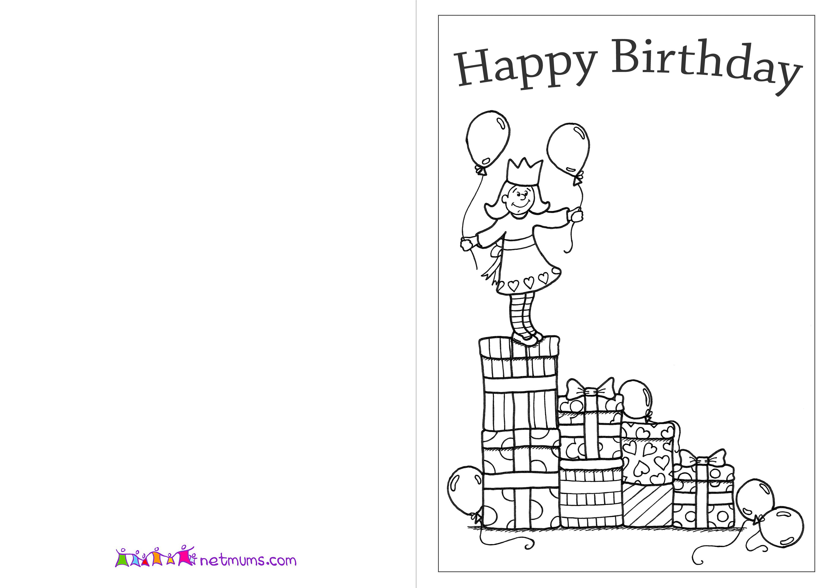 happy birthday cards to color and print ; 27bfd05c7e230001589a76fe681f57a0