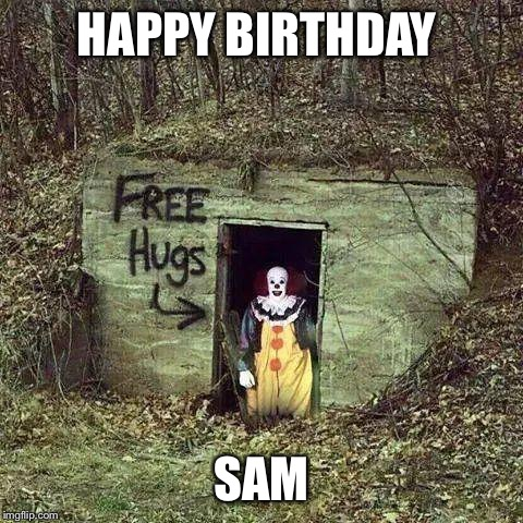 happy birthday clown meme ; 1qpqum