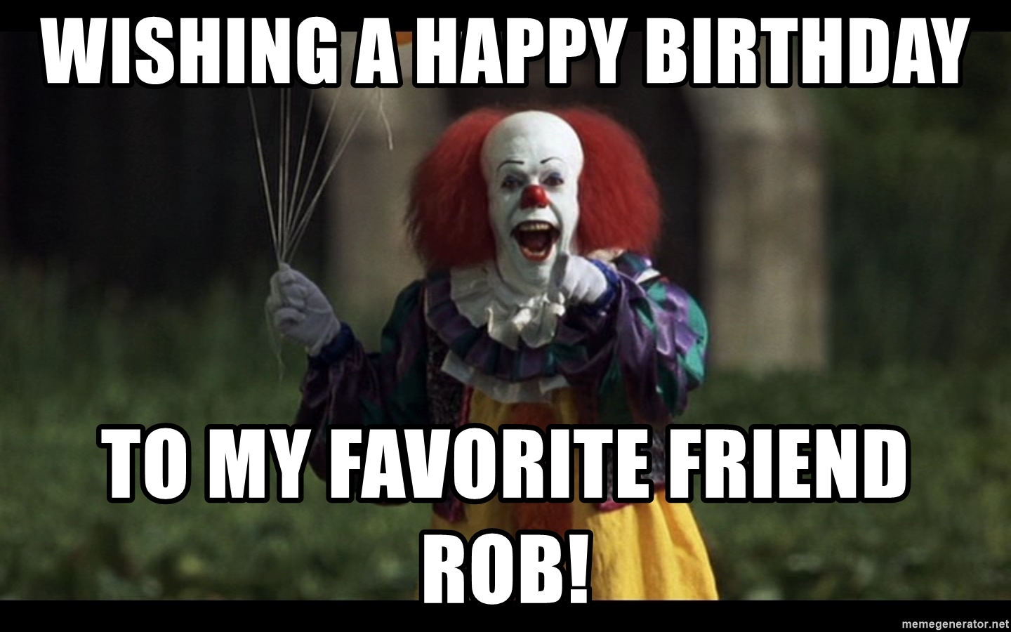 happy birthday clown meme ; 73422674