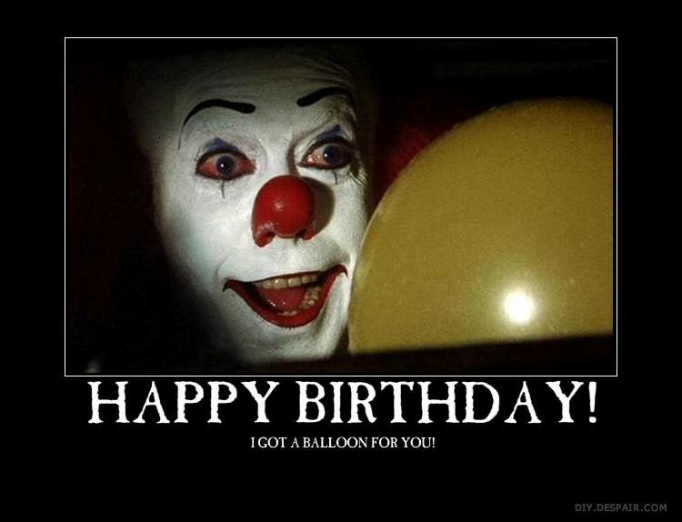 happy birthday clown meme ; ef3841dfa50ae9ed374a26f4d76ab868